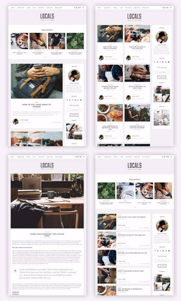 Locals - Чистая блоговая тема WordPress