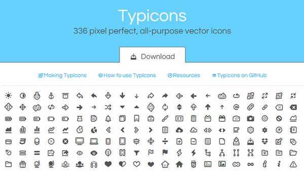 Typicons - Иконочный шрифт