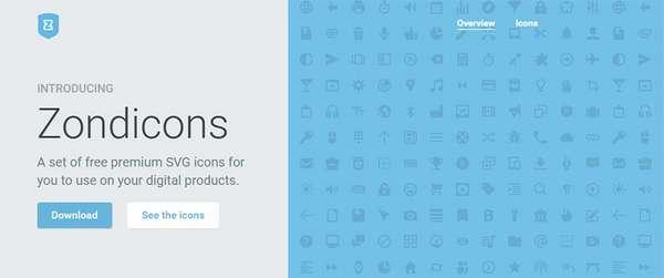 Zondicons - Набор шрифт-иконок