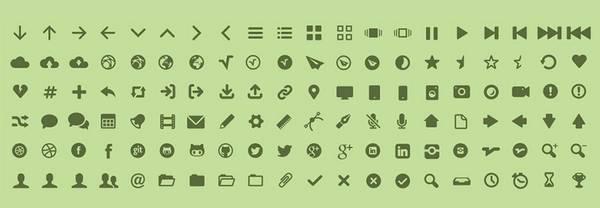 MFG Labs - Бесплатный набор шрифт-иконок
