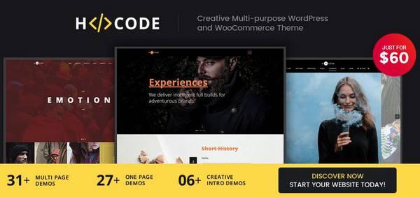 H-Code - Современная  многоцелевая тема WordPress