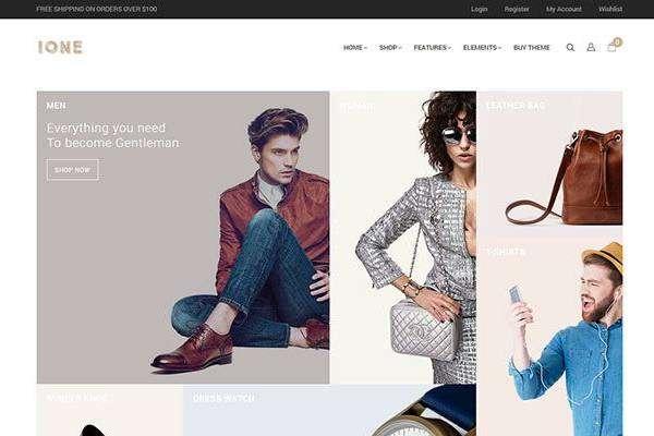 iOne - Минималистичная тема для Woocommerce
