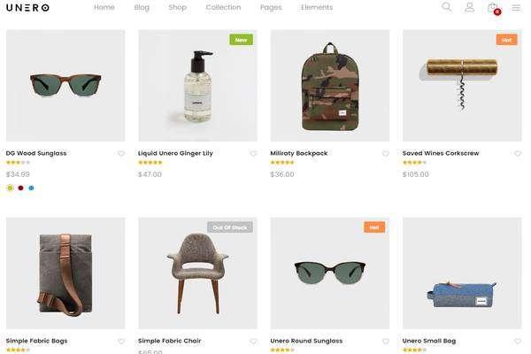 Unero - Минималистская тема AJAX WooCommerce WordPress