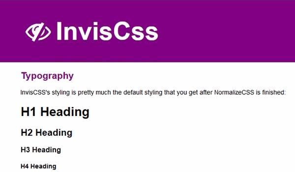 InvisCss - Альтернативный фреймворк CSS