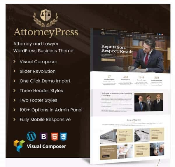 AttorneyPress - Тема WP для адвокатской конторы