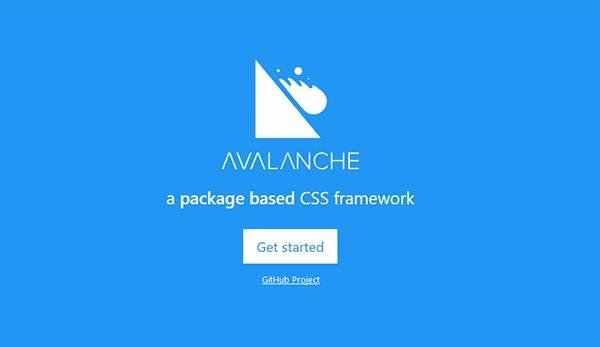 avalanche - облегчённый фреймворк CSS