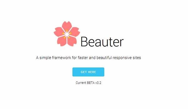 Beauter - Лёгкий фреймворк CSS
