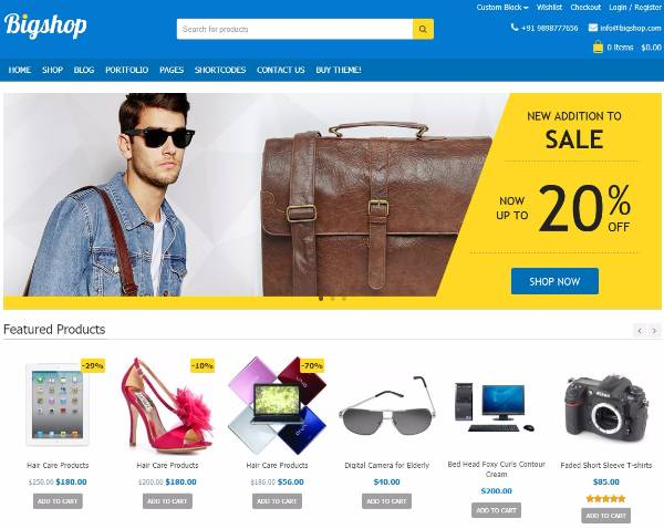 Bigshop - Тема WordPress WooCommerce