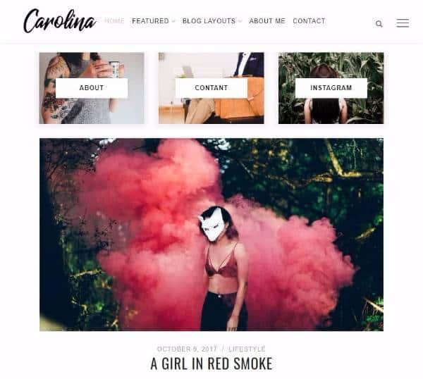 Carolina - Простая тема блога WordPress