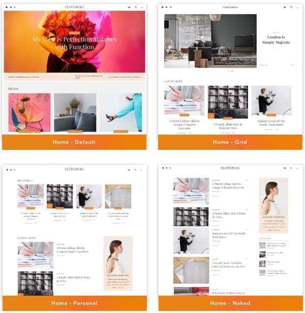 Elitemag - Стильная тема блога и журнала WordPress