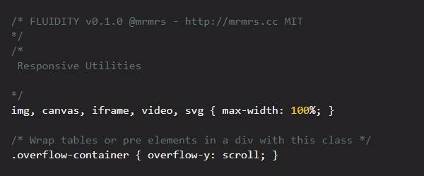 Fluidity - Адаптивный фреймворк CSS