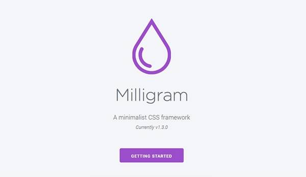 Milligram - Минимальный фреймворк CSS