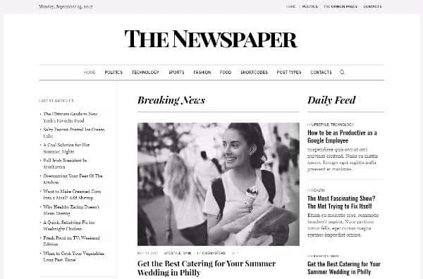 Newspaper - Журнальная тема WordPress