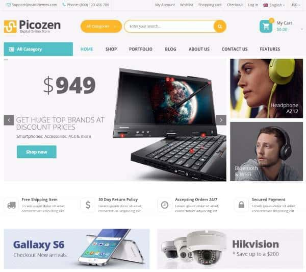 Picozen - WordPress тема на WooCommerce
