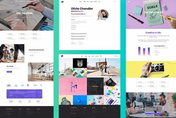Pisces - Творческая тема WordPress
