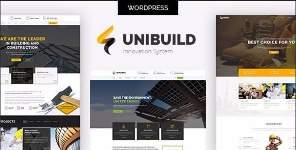 Unibuild - Технологичная Тема WordPress