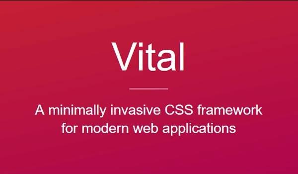 Vital - легкий фреймворк CSS