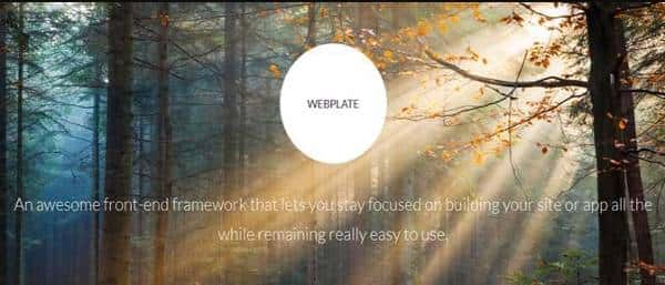 Webplate - CSS Фреймворк