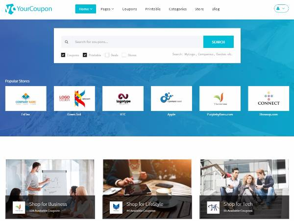 Yourcoupon - Новая тема WordPress