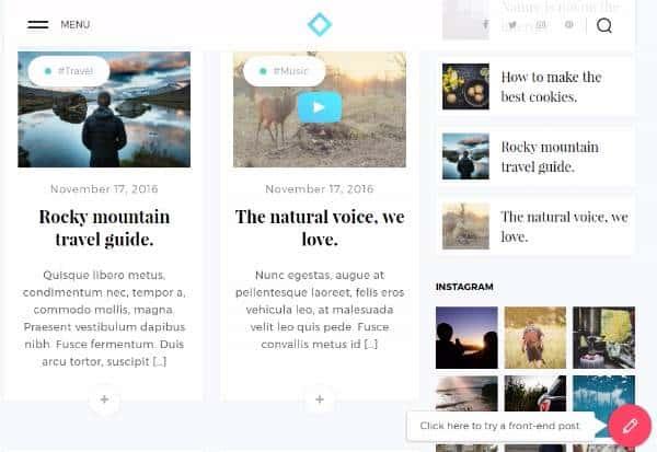 Zira - Современная тема для блогов WordPress