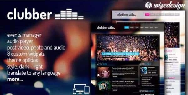 Clubber - Тема WordPress для сайтов музыкальной индустрии