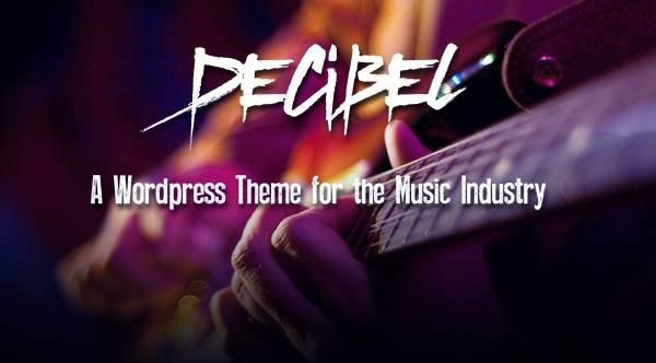 Decibel - Профессиональная музыкальная WordPress тема