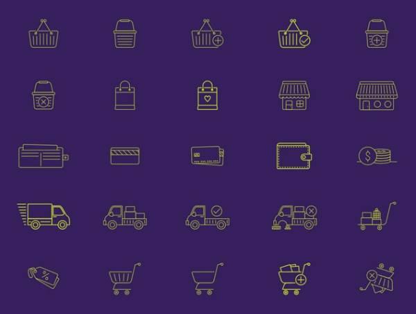 40 Иконок электронной коммерции