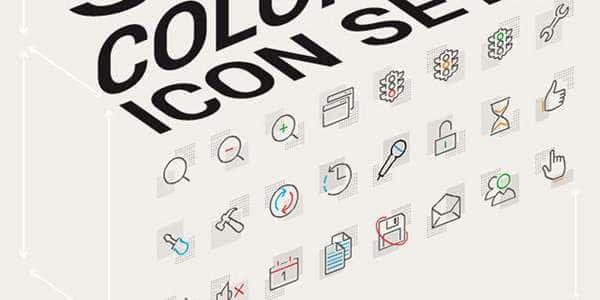 Набор бесплатных цветных иконок