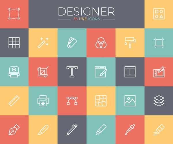 Набор бесплатных иконок для дизайнеров
