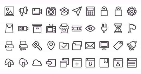 Набор иконок пользовательского интерфейса