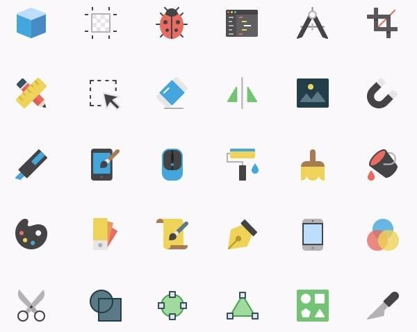 Набор иконок графического дизайна