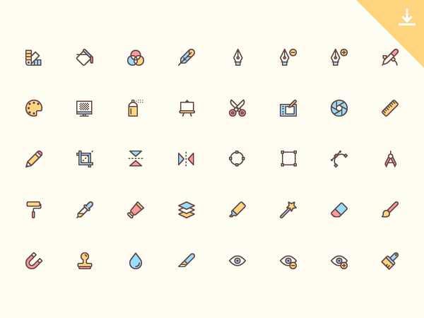 40 Бесплатных иконок для дизайнеров