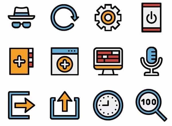 70 Плоских иконок веб-интерфейса