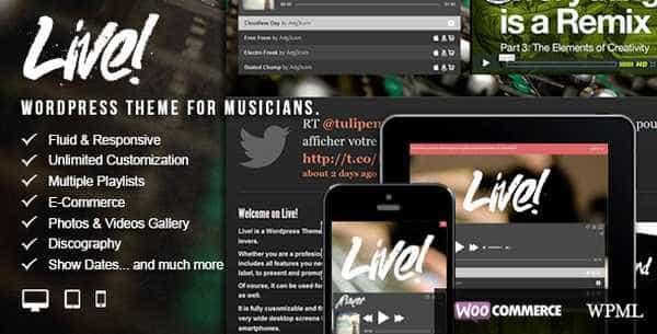 Live! - Музыкальный стиль WordPress