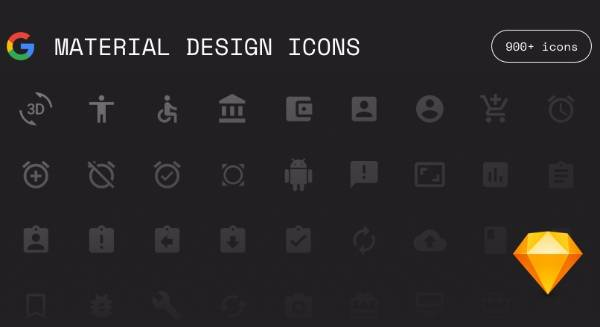 Google Material Иконки для Sketch