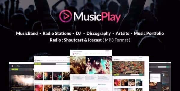 MusicPlay - Отзывчивая музыкальная тема WordPress