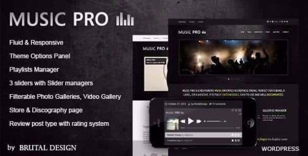 Music Pro - Музыкально-ориентированная тема WordPress