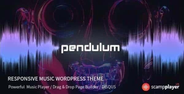Pendulum - Отзывчивая тема WordPress для музыкальных веб-сайтов