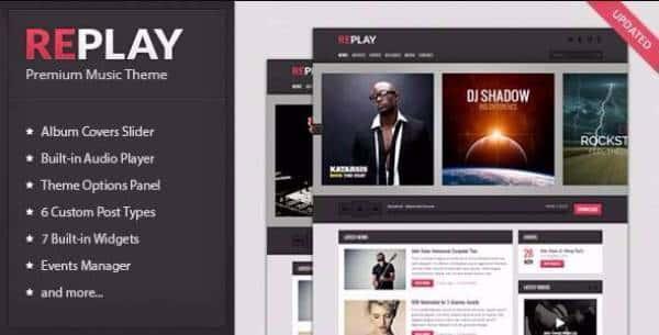 Replay - Отзывчивая музыкальная WordPress тема