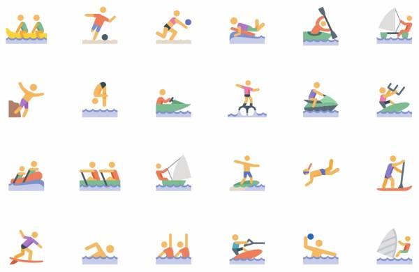 Иконки для водных видов спорта