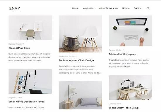 Envy Blog - чистая, современная тема WordPress