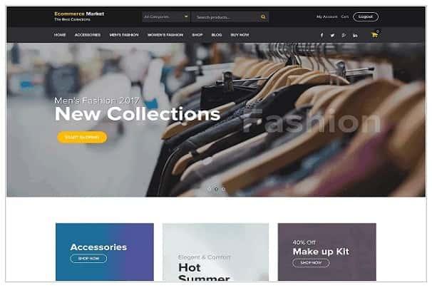 eCommerce Market - бесплатный виджет WooCommerce на основе темы WordPress