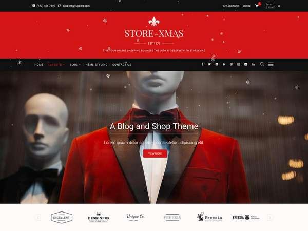 StoreXmas - бесплатная тема  WordPress следующего поколения