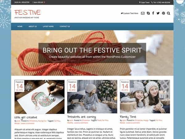 Festive - популярная многопользовательская тема WordPress и WooCommerce