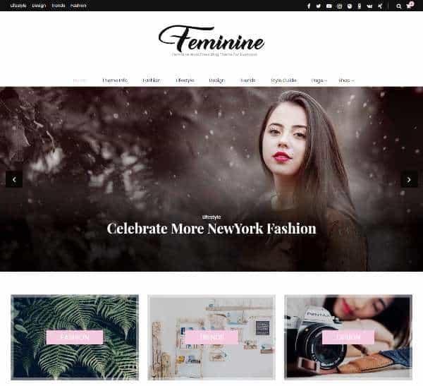 Blossom Feminine - бесплатная тема WordPress