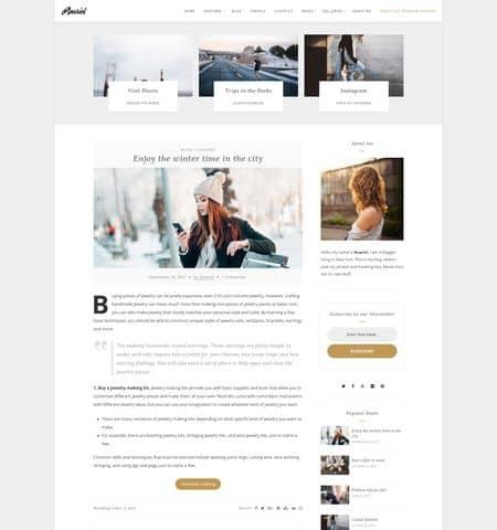 Anariel Lite - Стильная бесплатная тема WordPress