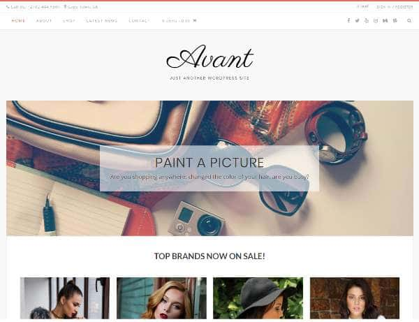 Avant - легко настраиваемая, многоцелевая тема WordPress