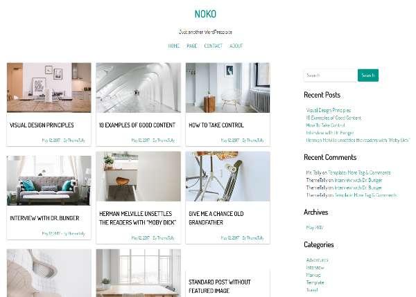 Noko - простая бесплатная тема WordPress