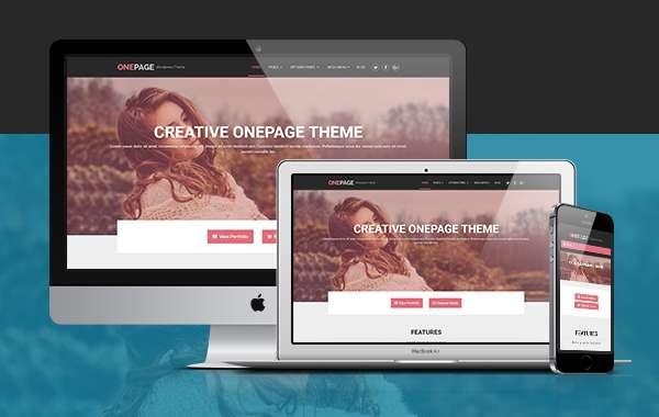 OnePage lite - элегантная бесплатная тема WordPress