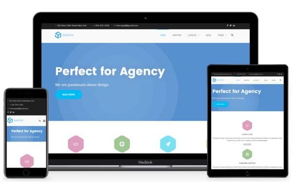 Suffice - бесплатная многопользовательская тема WordPress